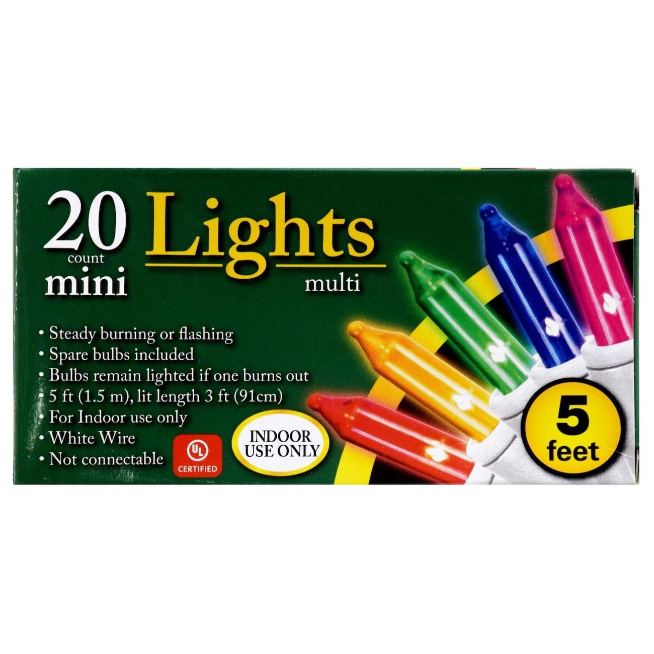 mini multicolored christmas lights 5 ft strands