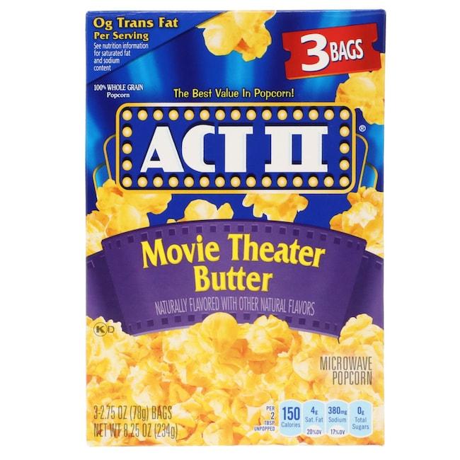 Act Ii Movie Theater Er Microwave Popcorn 3 Pk Bo