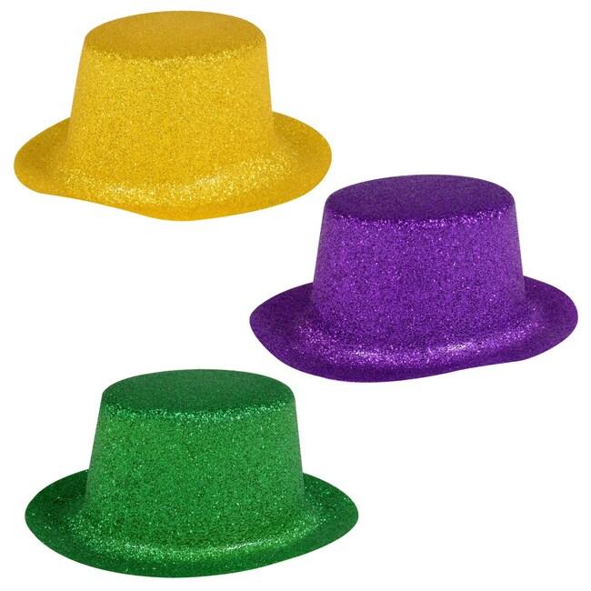 Glittery Plastic Mini Mardi Gras Party Hats 436131942ca