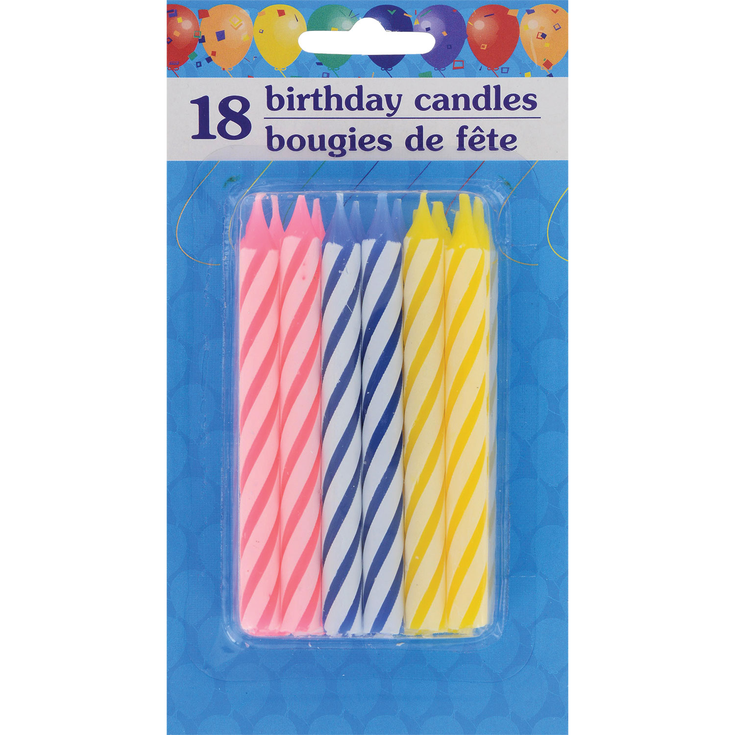 Birthday Candles Solid Color Party Supplies