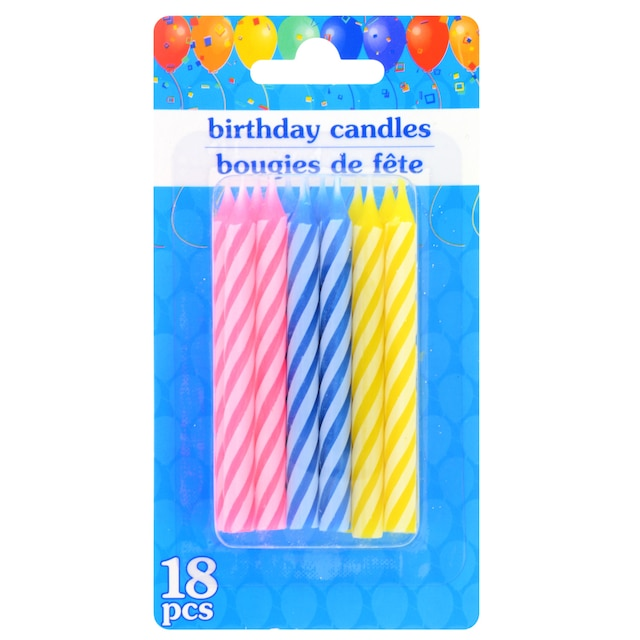 View Colorful Spiral Birthday Candles 18 Ct