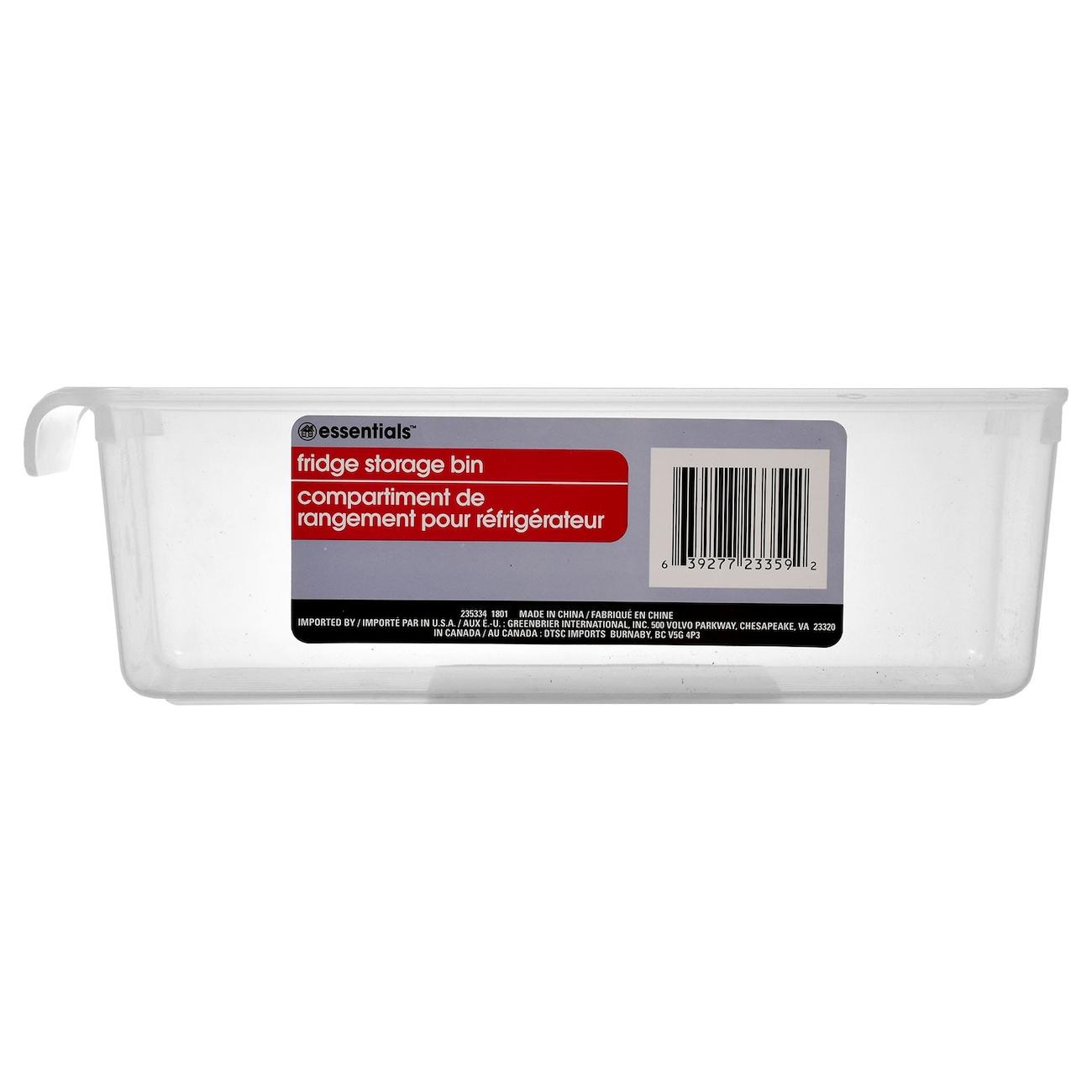 Essentials Plastic Fridge Storage Bins