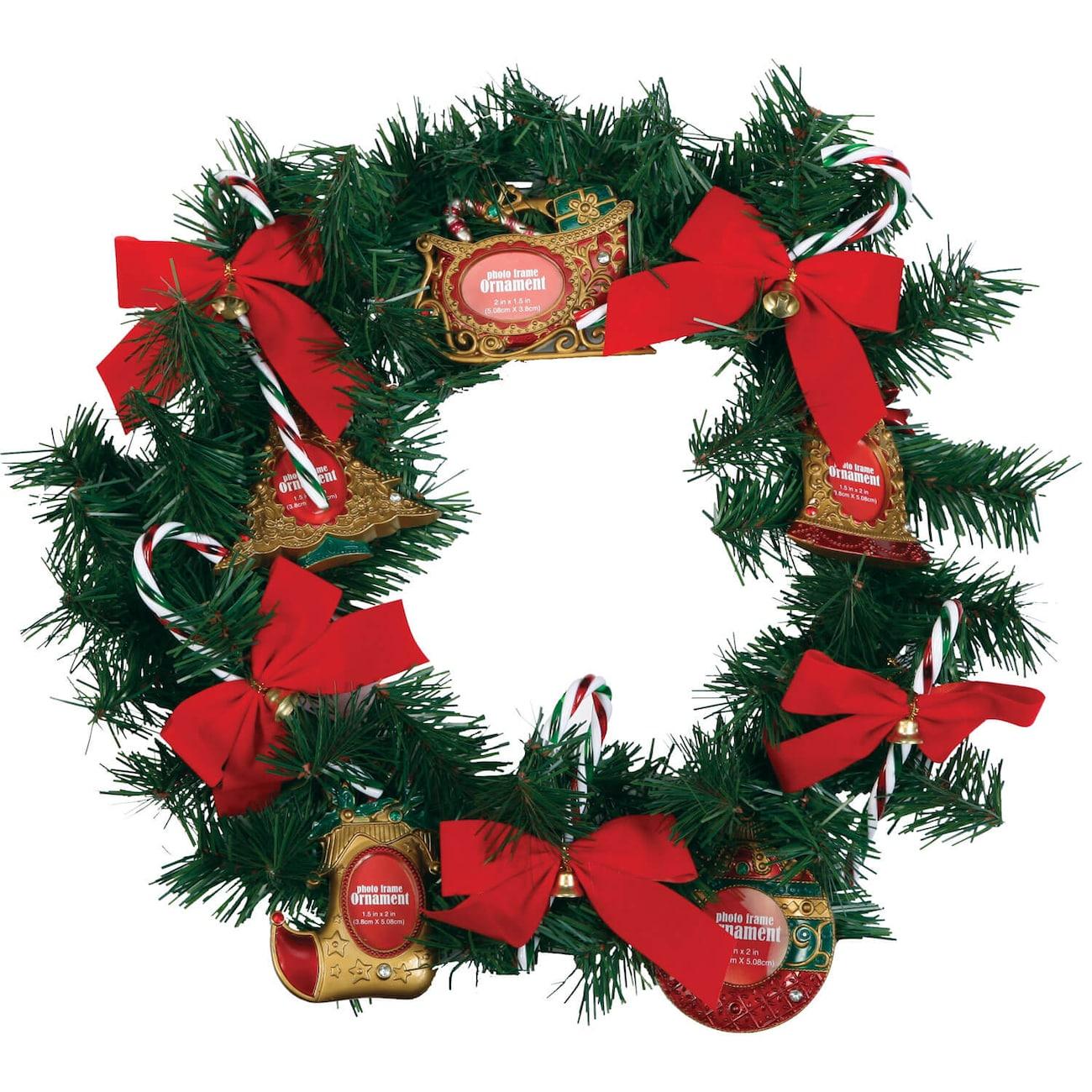 christmas craft idea frame ornament wreath