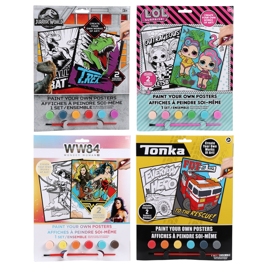 Display Product Reviews For Licensed Character Poster Paint Sets
