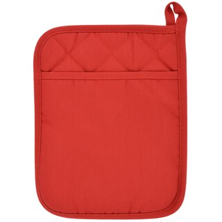 236970 Home Collection Red Cotton Neoprene Pot Holders