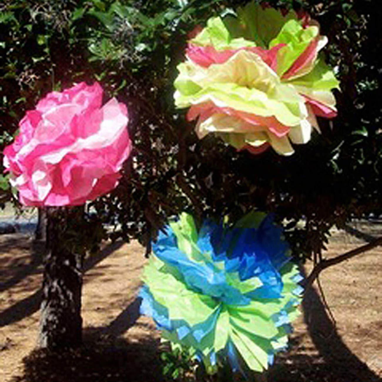Dollartree Teacher Idea Giant Tissue Paper Flowers