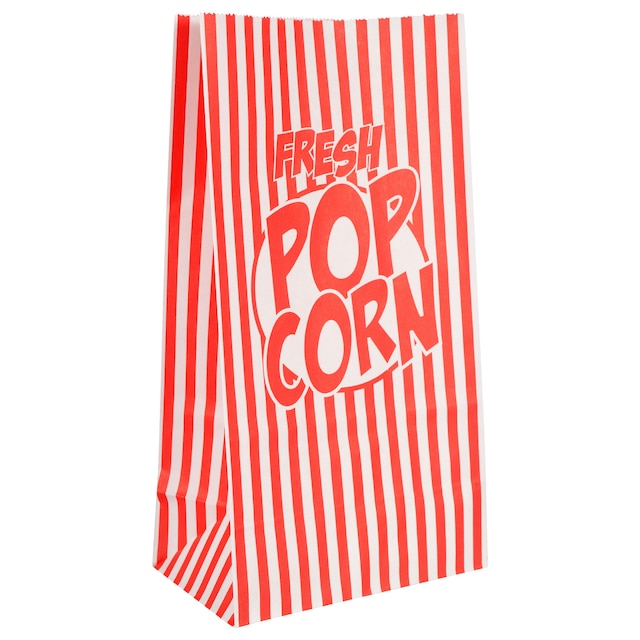 Essentials Single Serving Paper Popcorn Bags 8 Ct Packs