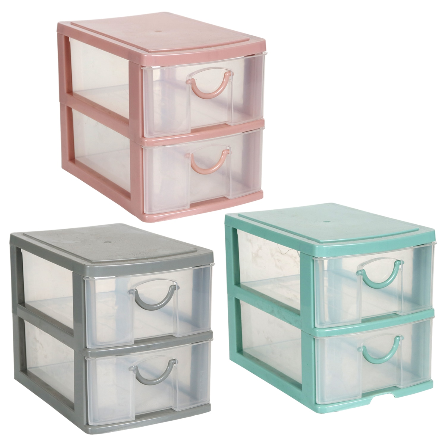 View 2-Tiered Mini Organizers with Drawers,