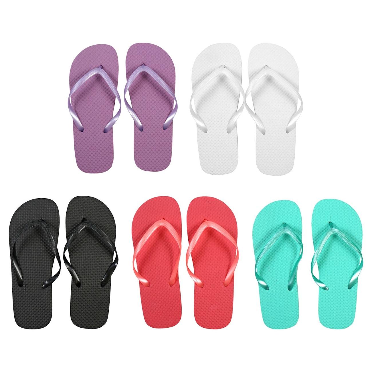 05f233fd0 Ladies  Solid Color Rubber Flip Flops