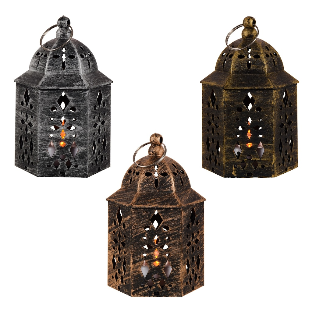 Garden Collection Led Plastic Moroccan Lanterns 5 25 In