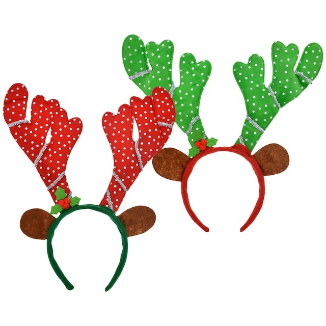 Christmas Headband Craft.Christmas House Deluxe Reindeer Headbands 13 In