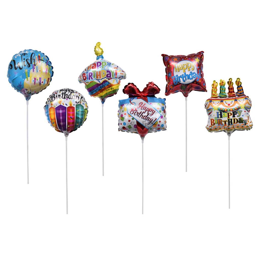 Pre Inflated Mini Happy Birthday Balloons