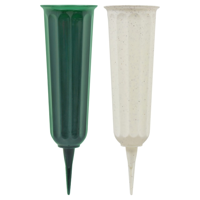 Dollartree Floral Garden Plastic Cemetery Vases With Stakes
