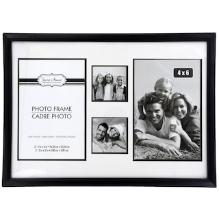 Special Moments 4 Section Black Plastic Collage Photo Frames