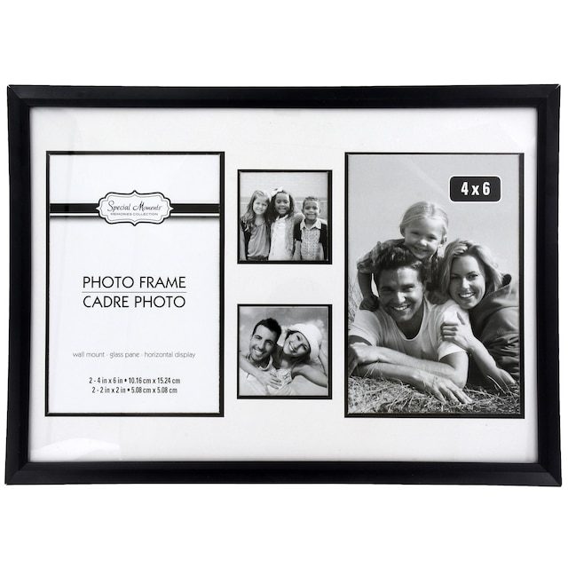 DollarTree.com | Special Moments 4-Section Black Plastic Collage ...