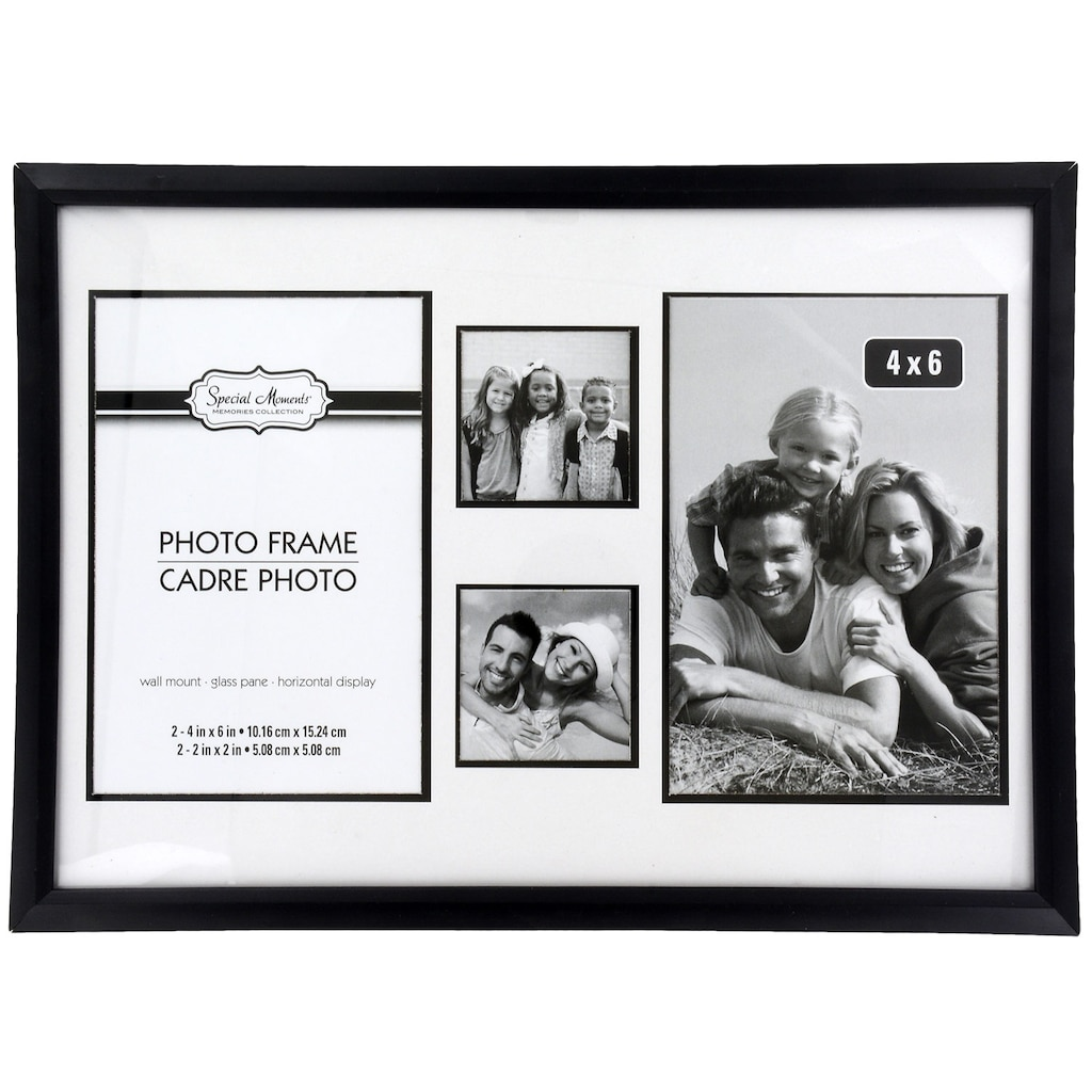 Special Moments 4-Section Black Plastic Collage Photo Frames
