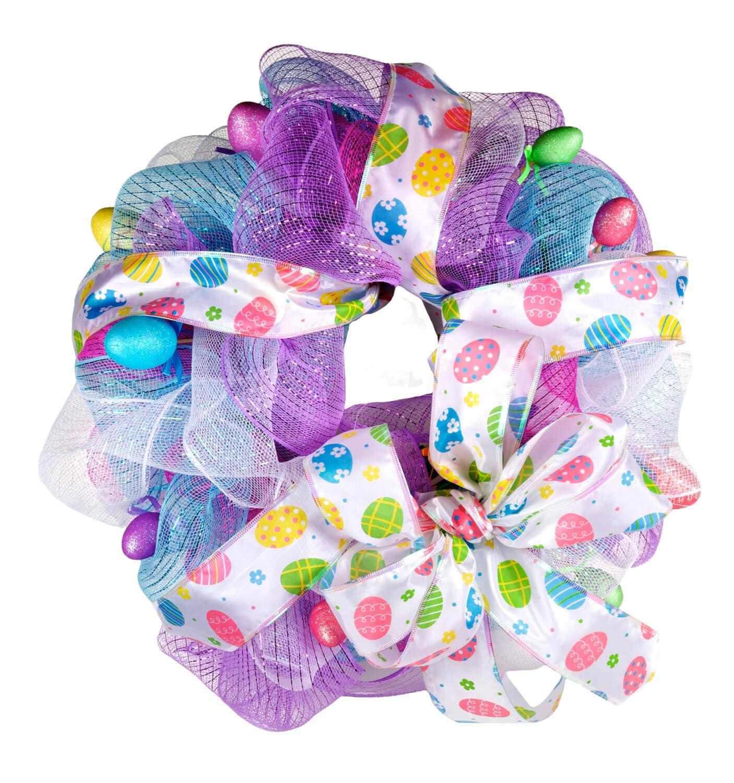 Dollartree Com Craft Idea Easter Deco Mesh Wreath