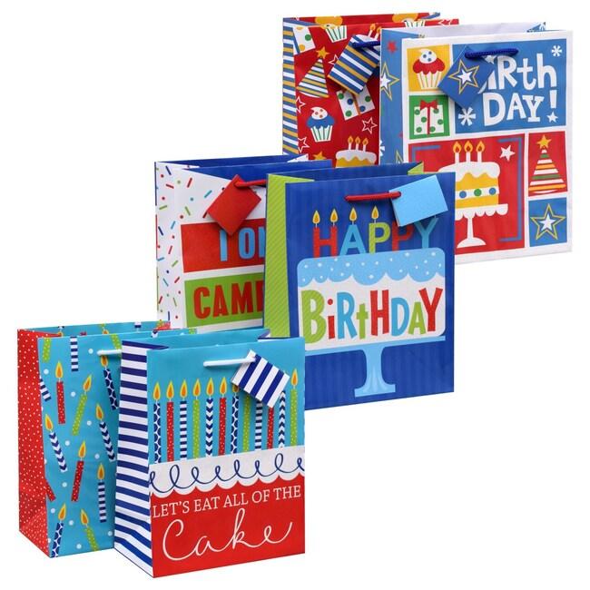 Voila Medium Birthday Gift Bags 2 Ct Packs