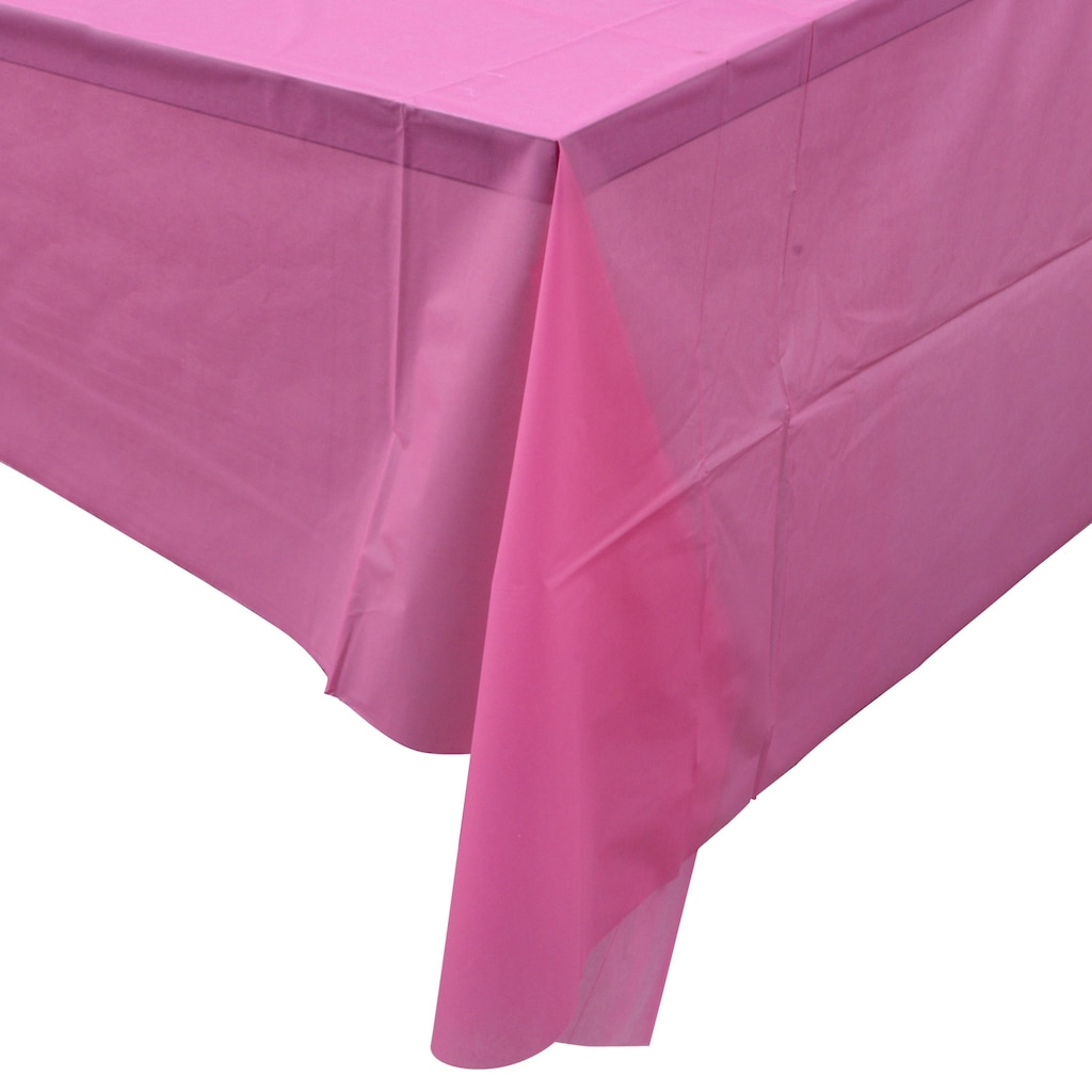 Candy Pink Plastic Table Covers 54x108 In