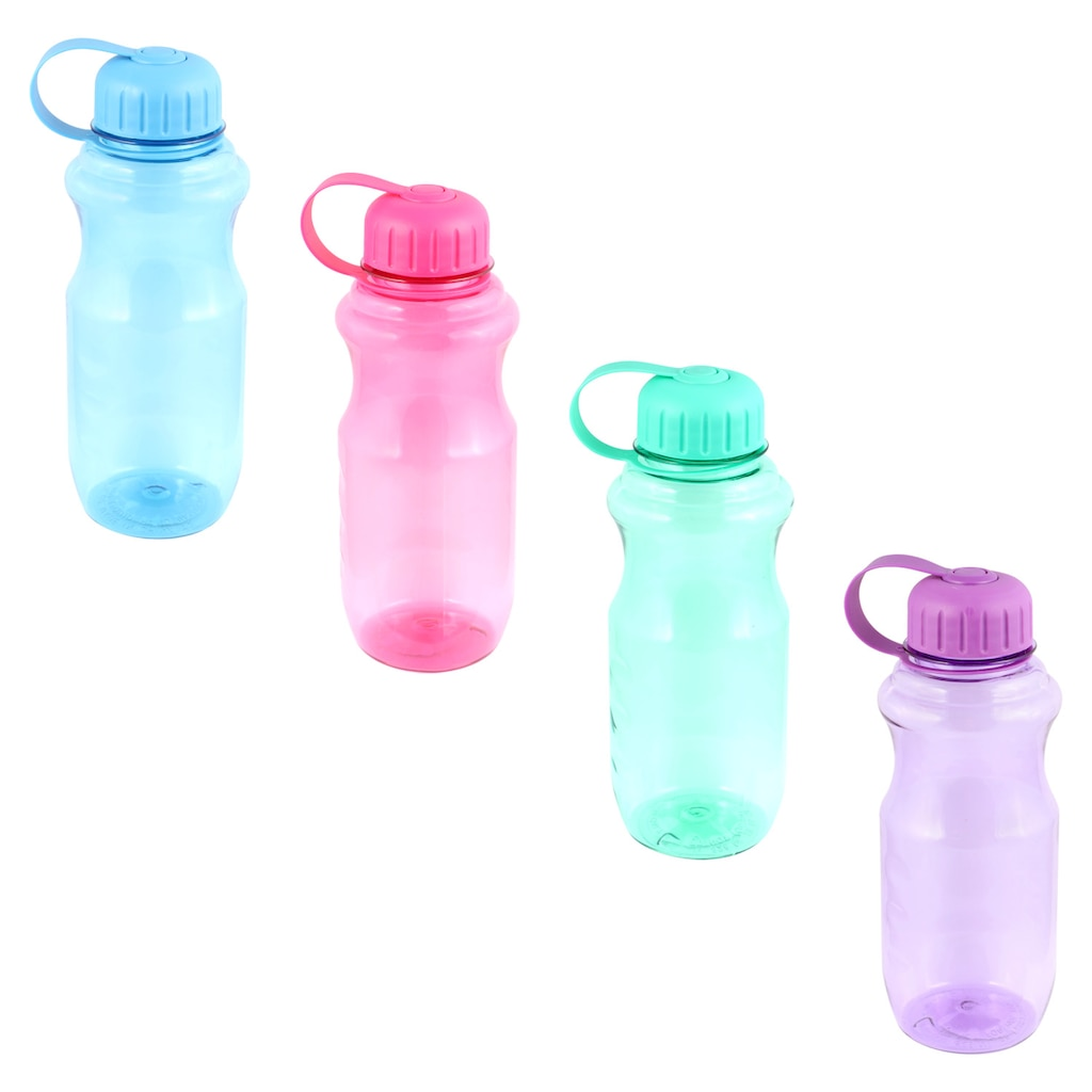 ab494f634d Translucent Plastic Water Bottles with Screw-On Lids, 20 oz.