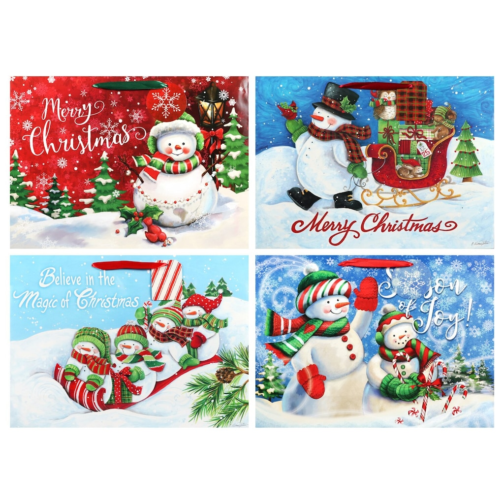 extra large traditional snowman gift bags