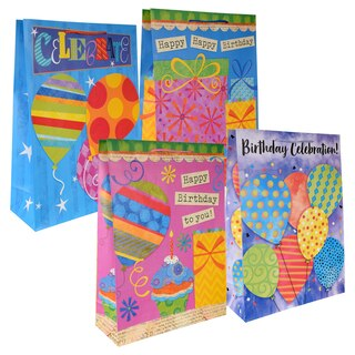 288957 Voila Extra Large Celebrate Birthday Gift Bags With Tags