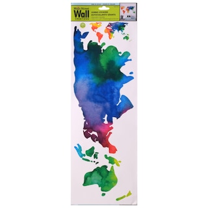 272452 main street rainbow world map wall stickers