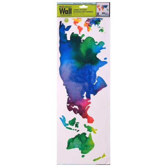 Street World Map.Dollartree Com Bulk Bulk Main Street Rainbow World Map Wall Stickers
