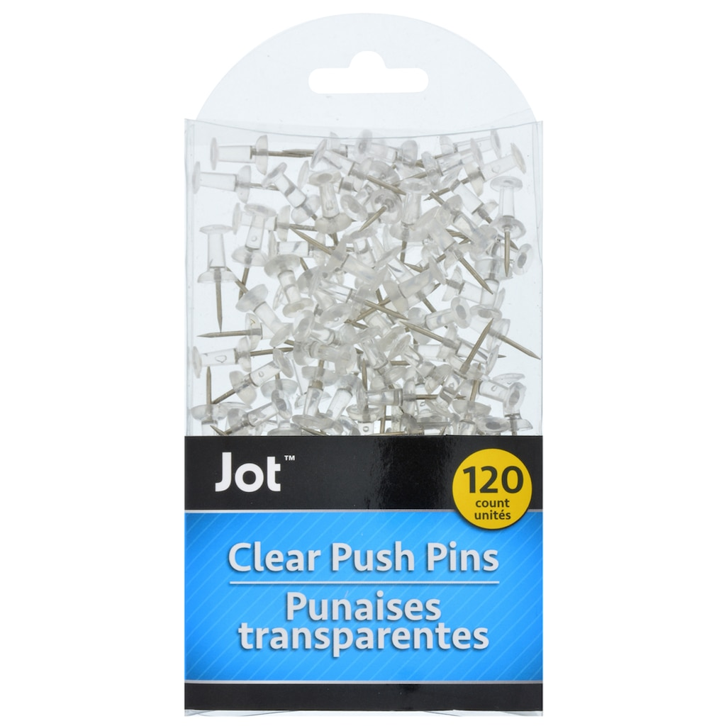 Jot Clear Push Pins, 120-ct. Packs on clear map jackets, clear china map, clear map tacks, clear spray adhesive, clear glitter, clear map of germany, clear acrylic, clear hat pins, clear push pins, clear world map,