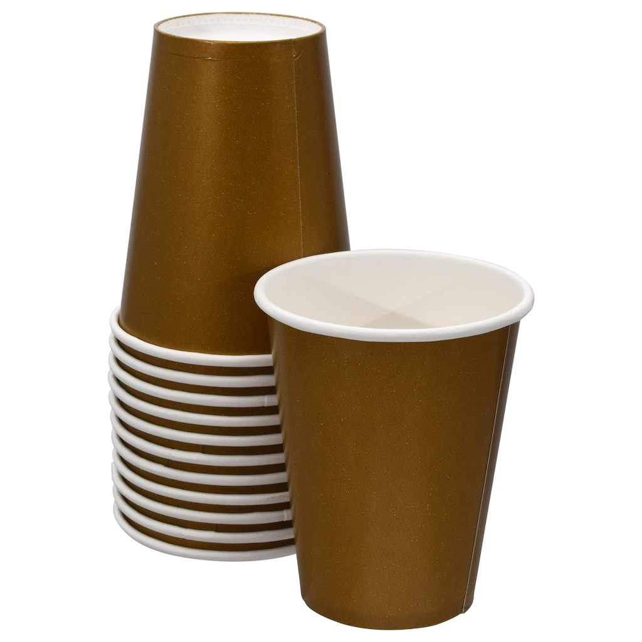 2eaa0ee283c Dark Gold Paper Party Cups, 9 oz.