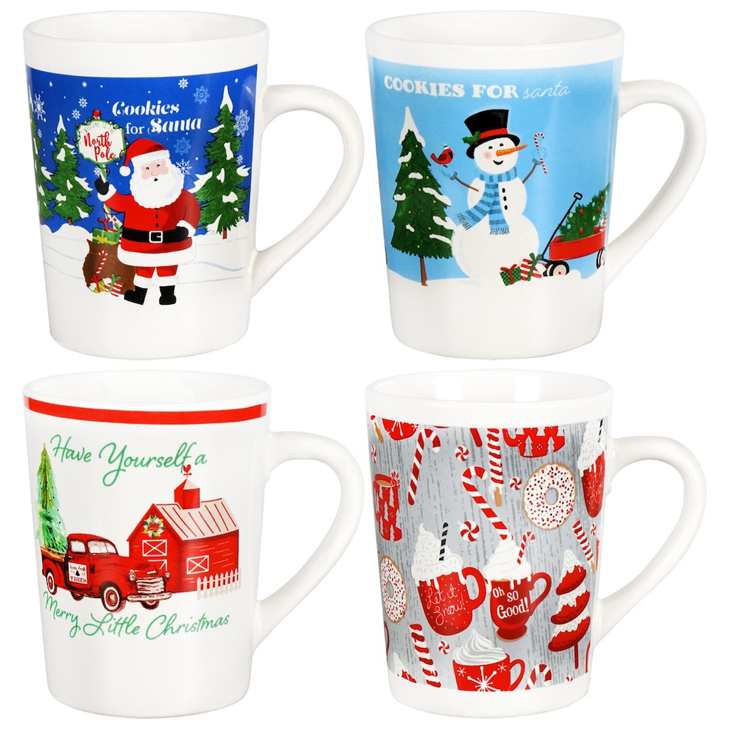 printed ceramic holiday mugs 14 oz
