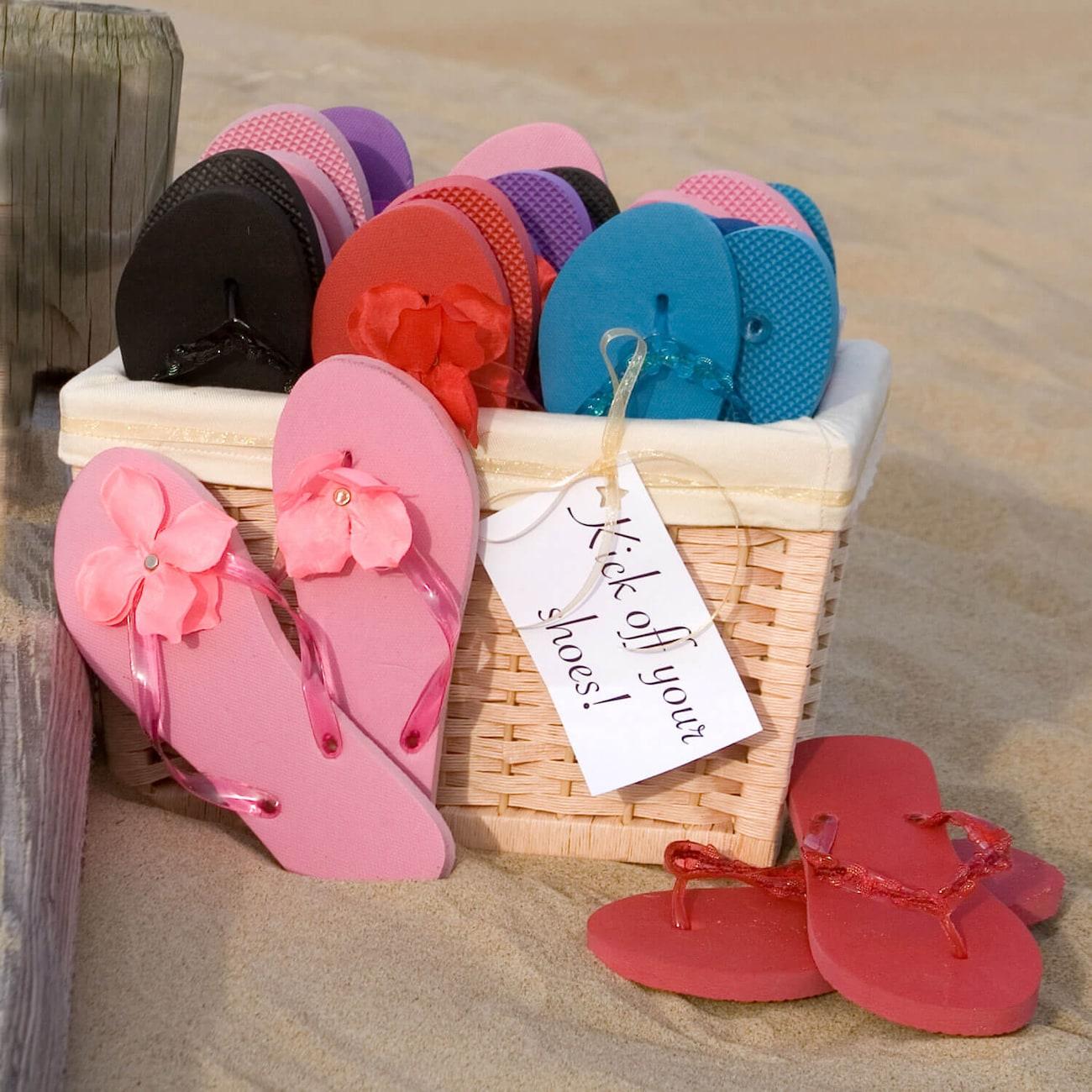 DollarTree.com | Wedding Idea: Flip-Flops for Your Reception