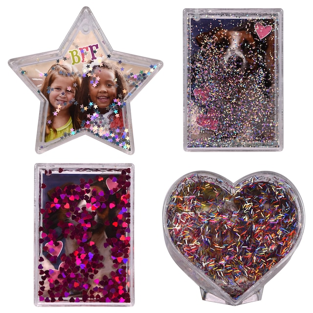 Water-Globe Plastic Picture Frames, 2x3 in.