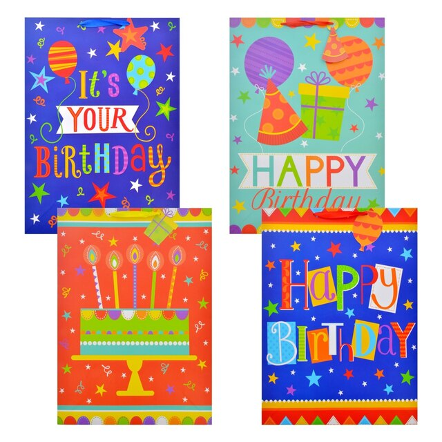 Voila Extra Large Whimsical Birthday Gift Bags