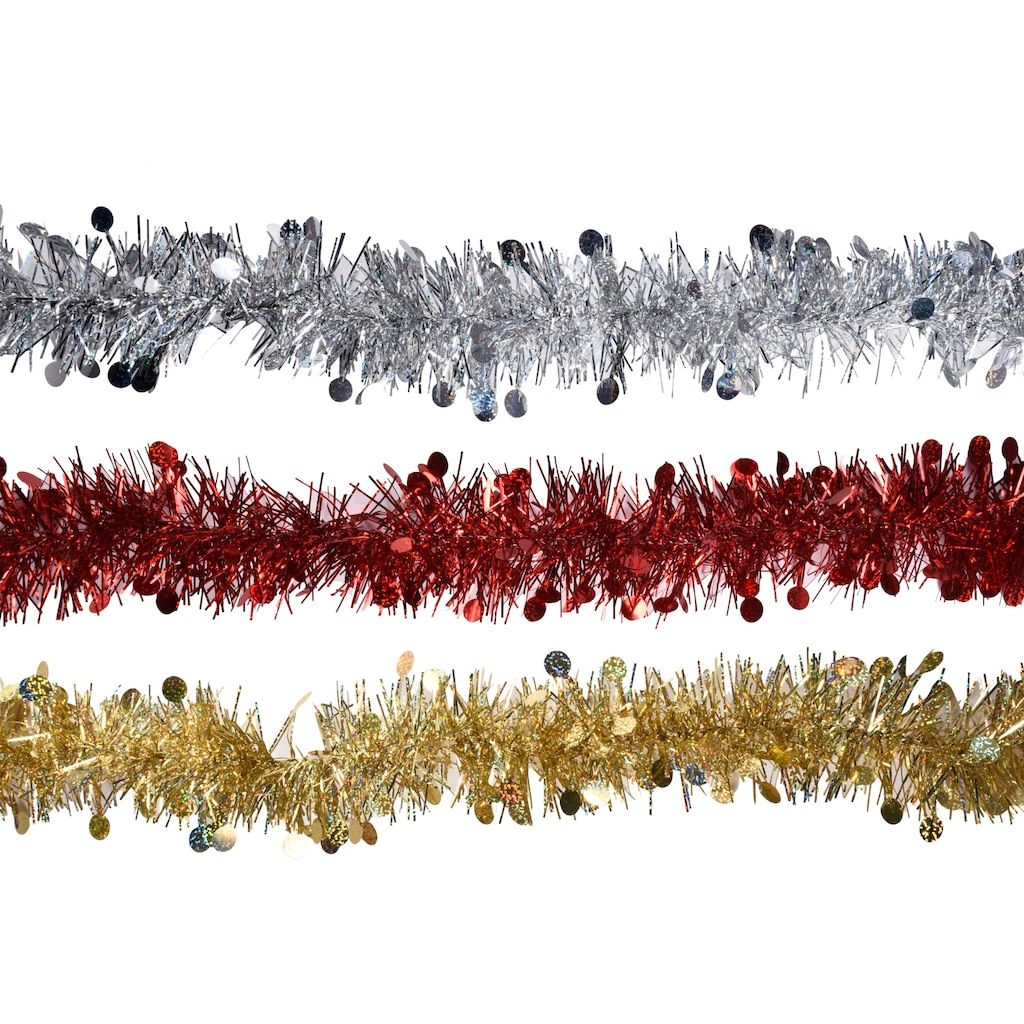 christmas house metallic tinsel garland 9 ft strands