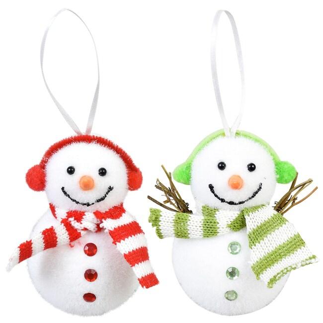 Bulk Christmas Ornaments.Christmas House Plush Snowman Ornaments 4 5x2 5x4 25 In