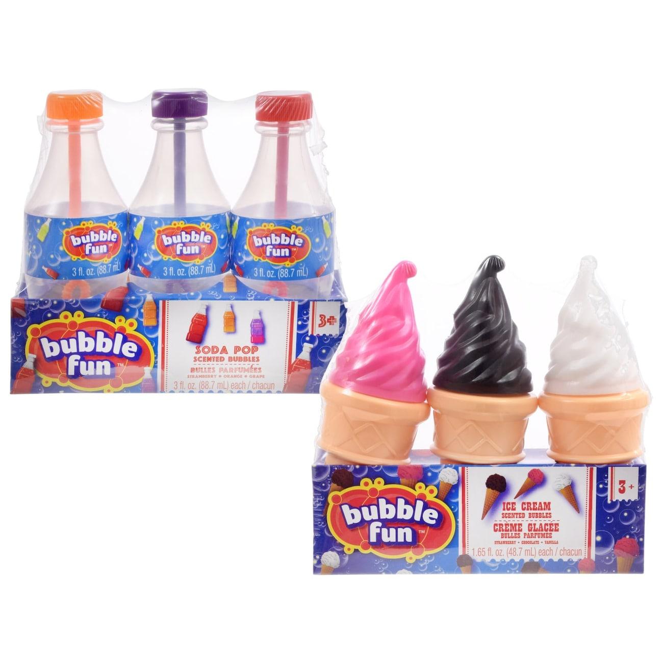 e4beb74300e Bubble Fun Ice Cream and Soda Pop Scented Bubbles