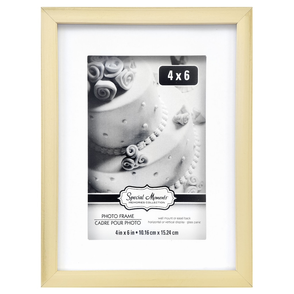 f22abfd29d0e Special Moments Two-Tone Matted Gold Plastic Photo Frames