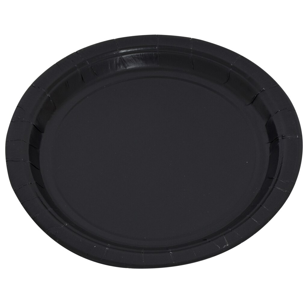 Black 7-in. Paper Party Plates, 24-ct. Packs