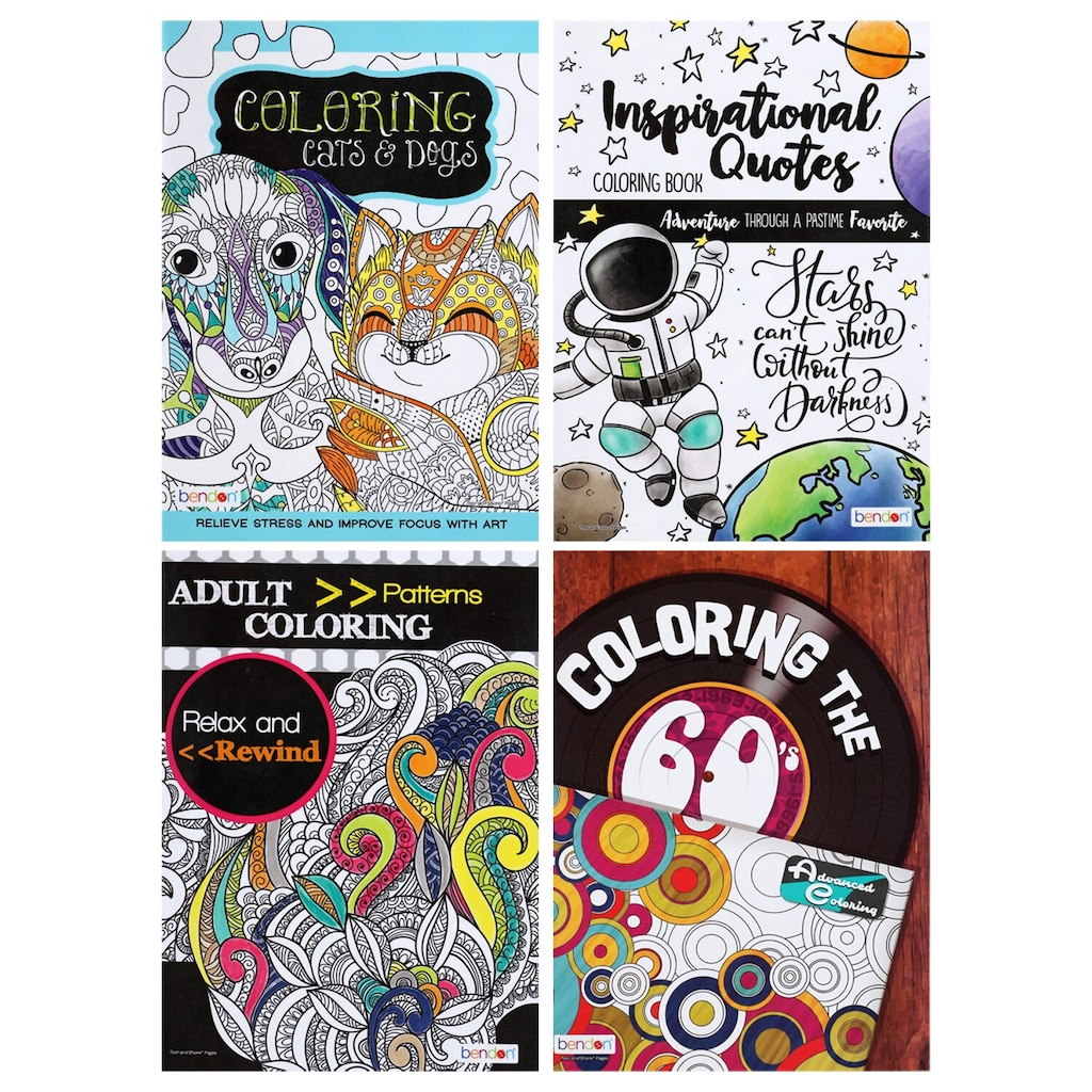 display product reviews for bendon relax and rewind assorted adult coloring books
