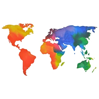 Dollartree Com Bulk Bulk Main Street Rainbow World Map Wall Stickers