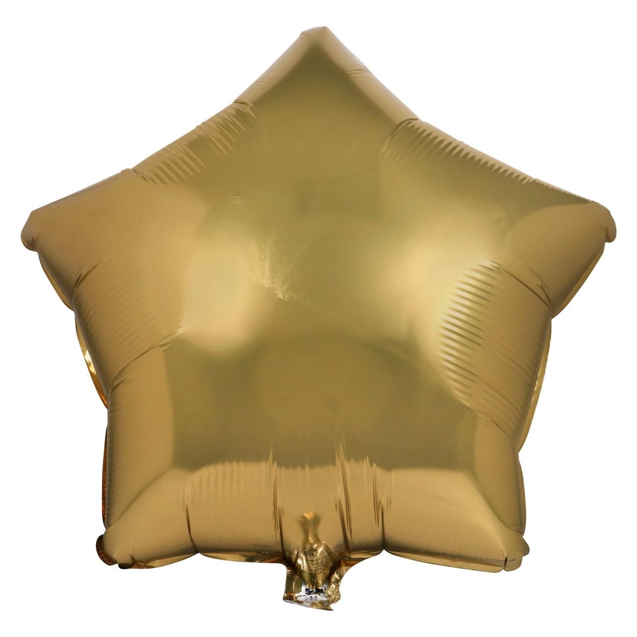 Gold Star Foil Balloons 18