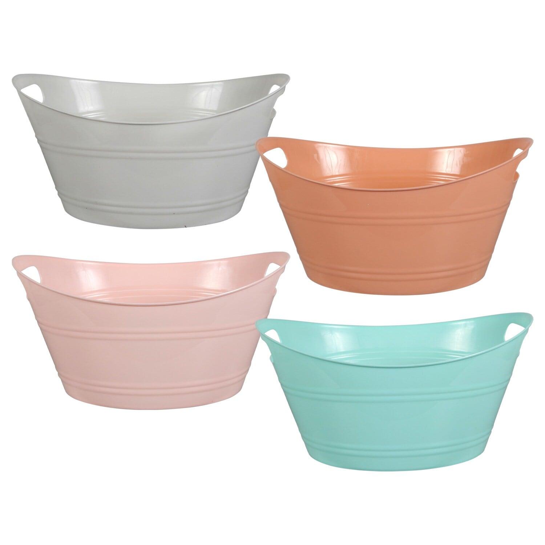 Dollartreecom Bulk Bulk Colorful Plastic Oval Storage Tubs With