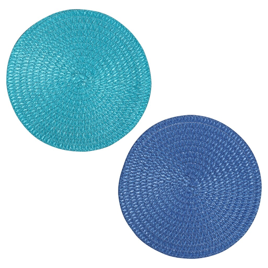 50eeacfac09d Home Collection Round Summer Fun Blue and Green Placemats