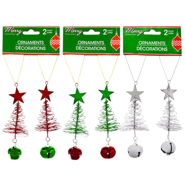 christmas house looped wire christmas tree ornaments 2 ct packs