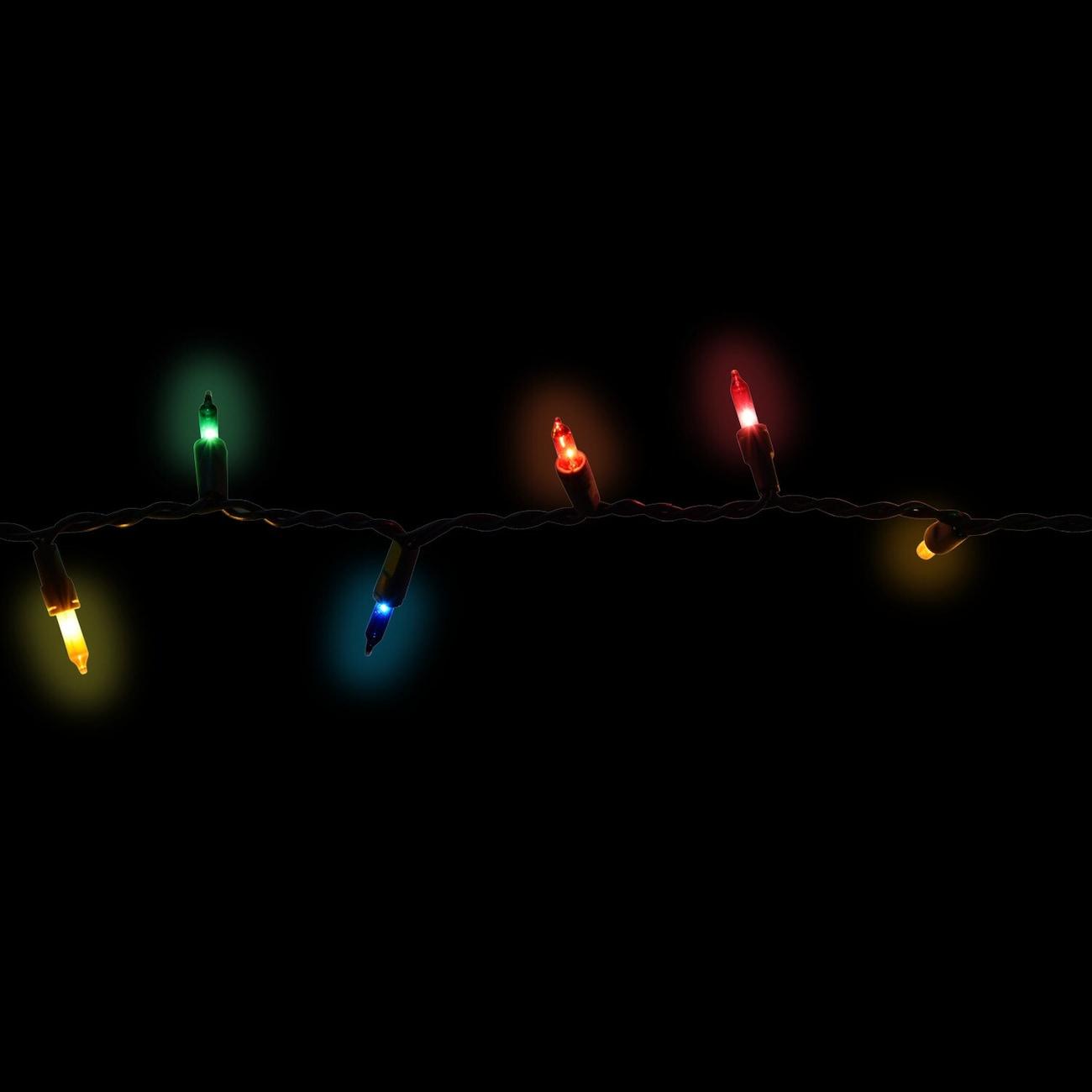 20 bulb indoor multicolored christmas light sets 5 ft strands
