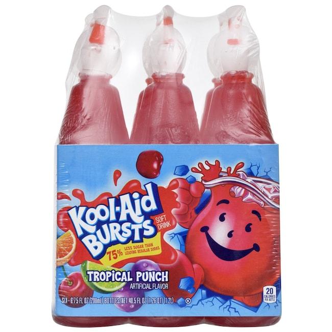 Kool-Aid Bursts in Tropical Punch Flavor, 6-ct  Packs