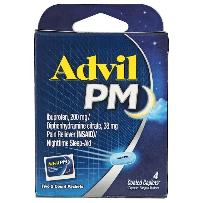 Dollartree Com Bulk Advil Pm Coated Caplets 4 Ct Packs