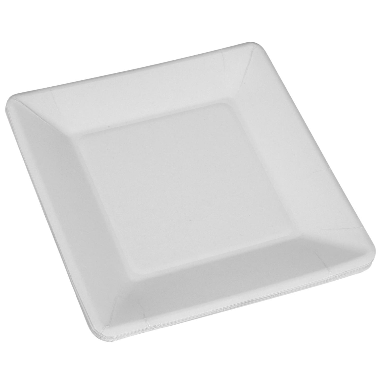 Square Black Paper Cake Plates 16ct
