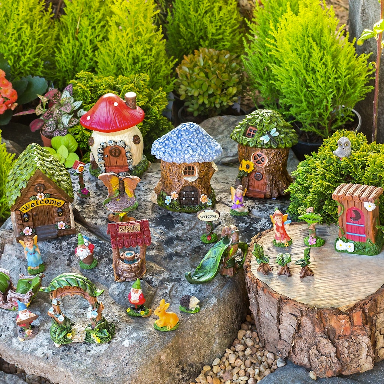 Mini Fairy Gardens 25 Pc Sets